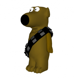 3D Printed Family Guy - Brian as Chewbacca by Gnarly 3D Kustoms ...