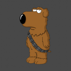Brian as Chewbacca - Family Guy Star Wars - T-Shirt | TeePublic