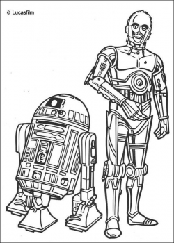 chewbacca with gun drawing | R2-D2 and C-3PO coloring page | Draw me ...