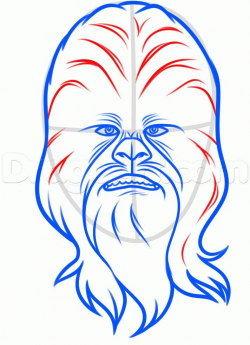 Design to draw - Draw Pattern - how to draw chewbacca easy step 6 ...