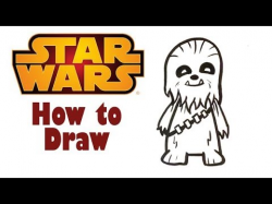 How to Draw Cute Chewbacca - Star Wars / Solo - Easy Pictures to Draw
