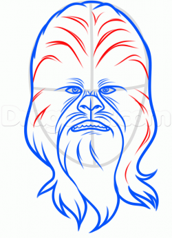 how to draw chewbacca easy step 6 | Mom's classroom in 2019 ...
