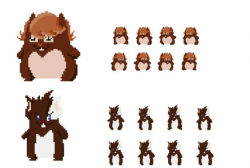 Create pixel art and sprites by Marianynfa