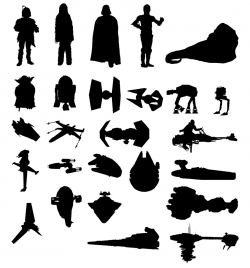 Boba Fett, Chewbacca, Darth Vader, C3-P0, Jabba the Hut, Yoda, R2-D2 ...