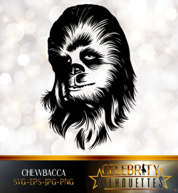 Chewbacca Silhouette artist silhouettes celebrity