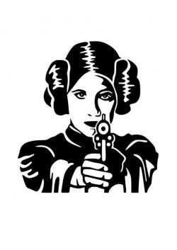 Star Wars Princess Leia SVG cutting file-Cricut-Silhouette | Cricut ...