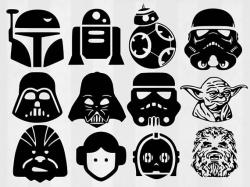 Star Wars SVG Bundle Star Wars clipart Star Wars cut files | Liam's ...