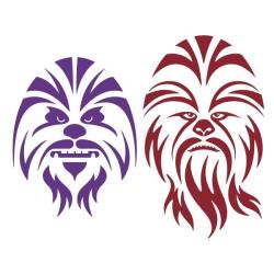 Chewbacca Cuttable Design Cut File. Vector, Clipart, Digital ...