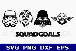 Star Wars SVG / Yoda SVG / Darth Vader SVG / Chewbacca svg /