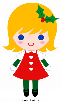Christmas Girl Clipart - Sweet Clip Art