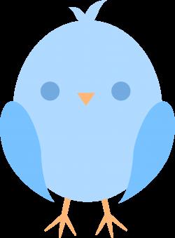 Cute Little Blue Easter Chick - Free Clip Art