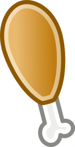 Chicken Leg clip art Free vector in Open office drawing svg ( .svg ...