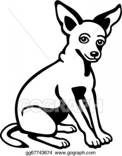 Vector Art - Chihuahua. Clipart Drawing gg67743674 - GoGraph