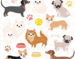 Toy Dog Clipart Bundle 20 Small Dog Breeds Pet Scrapbooking