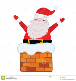 28+ Collection of Santa Claus Chimney Clipart   High quality, free ...