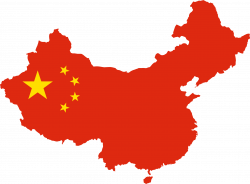 Clipart - China Map Flag