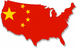 Clipart - USA in about 30yrs flag map
