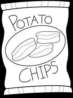 Potato Chip Bag black | CLIPART | Pinterest | Potato chips