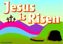 He Has Risen Clip Art | Clip Art Image: Christ is Risen (The Tomb is ...
