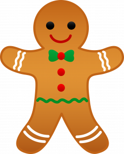 CHRISTMAS GINGERBREAD MAN CLIP ART | Cards - Christmas Elements ...