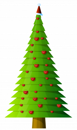 Christmas Tree Modern Style Transparent PNG Clipart | Gallery ...