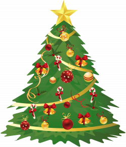 Large Transparent Christmas Tree with Ornaments and Candy Canes ...