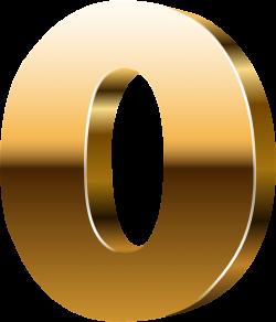 Number Zero 3D Gold PNG Clip Art Image | NUMBER so dep | Pinterest ...
