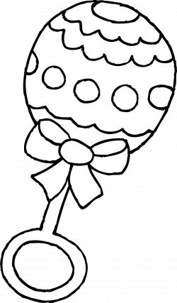 Baby Rattle Clip Art Black and White | All Things Cricut ...