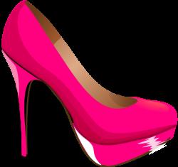 kids pink heels clip art | Pink Highheal Shoe clip art - vector clip ...