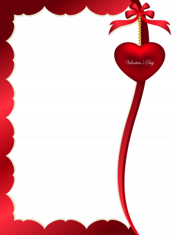 Valentines Day Decorative Ornament for Frame PNG Clipart Picture ...