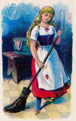 Vintage Fairy Tale Clip Art - Cinderella - The Graphics Fairy