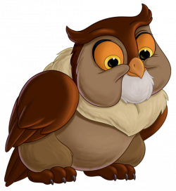 Bambi Friend Owl Transparent PNG Clip Art Image | Cartoons ...