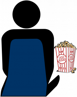 Cinema 2 Person with Popcorn Icons PNG - Free PNG and Icons Downloads