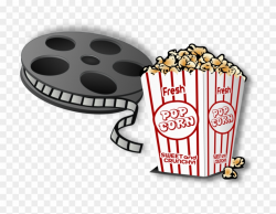Movie And Popcorn Cartoon Clipart (#421917) - PinClipart