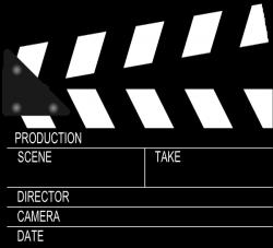 Movie Clapper Board Clip Art at Clker.com - vector clip art online ...