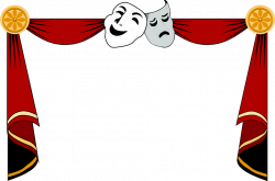 Illustration of a drama masks and curtains frame : Free Stock Photo ...
