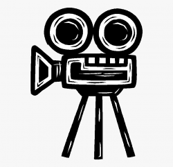 Movie Camera Clipart - Old Movie Camera Drawing ...