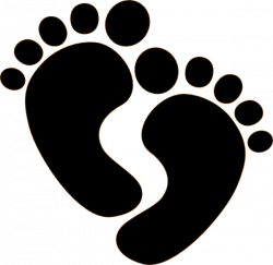 Baby Foot Silhouette at GetDrawings.com | Free for personal use Baby ...