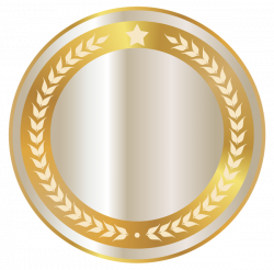 White Seal Badge with Gold Decor PNG Clipart Image | ROZET ...