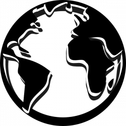 Globe black and white world globe black and white clipart 4 ...