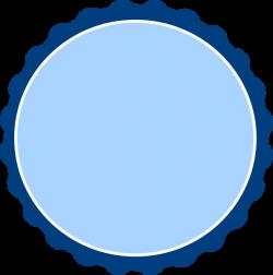 Navy Banded Blue Scalloped Circle Clip Art at Clker.com - vector ...