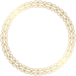 Round Gold Border Transparent PNG Clip Art Image | Gallery ...