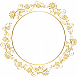 Round Gold Border Frame Deco PNG Clip Art   Gallery Yopriceville ...