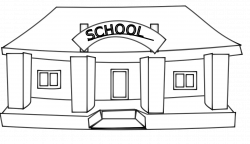 clip art black and white | ... .info netalloy school building black ...