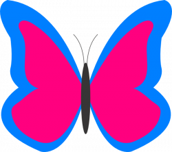 Pink butterfly clipart free images - Clipartix