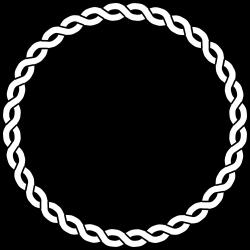 Nautical Rope Border | Rope Border Circle Dna Black White Line Art ...