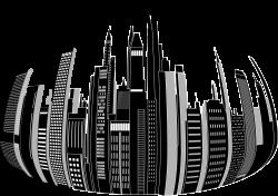 Clipart - Distorted City Skyline