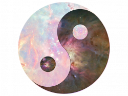 Galaxy yinyang clipart with transparent background mad...