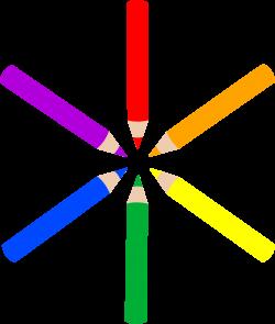 Pattern of Mini Colored Pencils - Free Clip Art