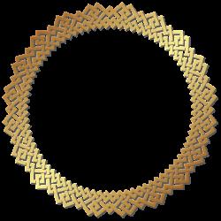 Round Golden Border Frame Transparent PNG Clip Art | B&F-Goldy ...